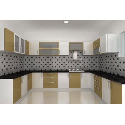Modern U Shaped Kitchen Cabinet Rs 1500 Square Feet Splendid