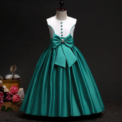 Funky Green Bow Applique Dress