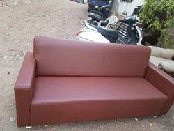 Brown Leather Sofa Set, Warranty: 1 Year