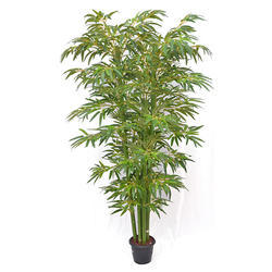 Fabric Green Artificial Bamboo Tree N.Stick HL 6'