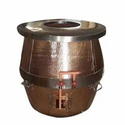 Round Copper Tandoor Oven For Hotel, Capacity: 5-10 Roti Per Minute