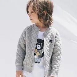 Party Wear Zipper Children Winter Jacket, S, M
