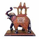 Meenakari Metal Enamel Ambabari Elephant Statue, Usage: Home Decoration