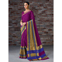 Ethnics Woman Cotton Silk Saree