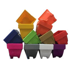 Decorative Square Plastic Planter