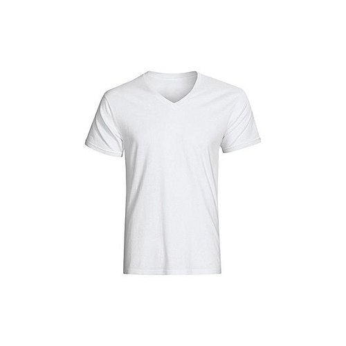 d7046ebd06798a White Cotton Mens V Neck T Shirt, Packaging Type: Packet, Size: S ...