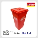 Aristo Storage Bucket 60 Ltr Flat Lid
