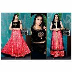 Embroidered Round Ladies Designer Lehenga Choli