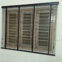 Brown Wood Automatic Motorized Blinds