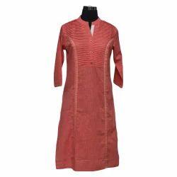 3/4th Sleeve Ladies Embroidered Kurti
