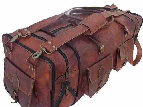 7e6d7e61b8 Brown Usd Pocket Square Leather Duffel Bag