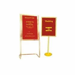 Brass Welcome Or Lobby Board
