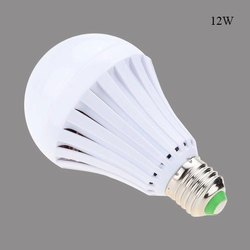 Divyam Round 12 W Rechargeable LED Bulb, E40