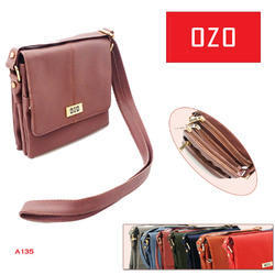 Plain Leather Sling Bag