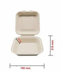 White Square Wheat Straw Box (8 Inch), For Event and Party Supplies