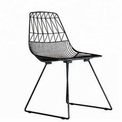 Outdoor Wrought Iron Mesh Garden Dinning Chair