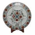 Marble Jali Plate Designer Work