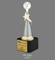 Customize Crystal Globe Metal Trophy