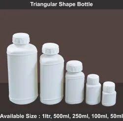 HDPE Screw Cap Triangular Shape Bottle, 50 ml