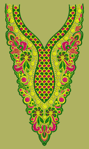 dress embroidery design neck yoke gala at rs 700 downloadable