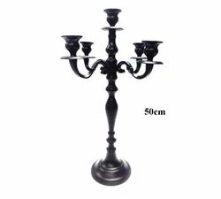 Candelabra in Stunning Black Powder Coated Finish ideal for Dining Tables and Centerpiece Tables