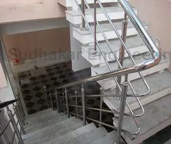 Stairs Steel Handrail, For Home and Office