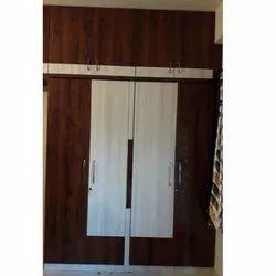 Hinged Door Wooden Wardrobe, For Home