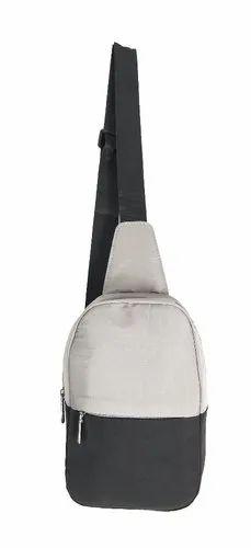 Black and Grey Side Bag