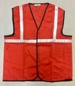 Reflective Vizwear Vests / Jackets 1 Red Front Opening (plain Fabric)