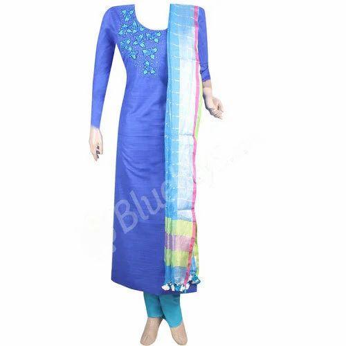 6133f697a9 Party Wear Jute Silk Salwar Kameez, Rs 2690 /piece, Bluelilys ...