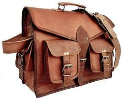 Vintage Leather Messenger Bag