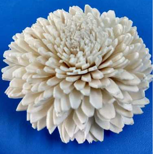 Artificial White Sola Flower