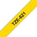Brother TZe-621 Labelling Tape Cassette Black on Yellow, 9mm x 8m