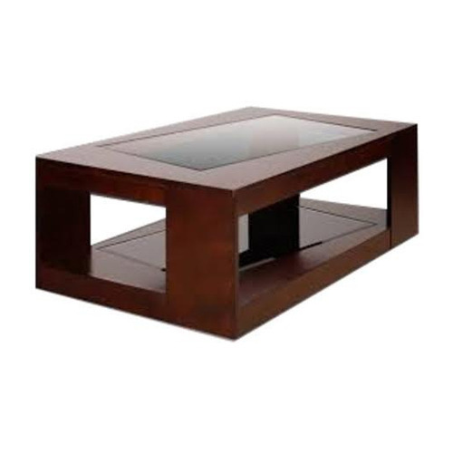 Brown Glass Top Rectangular Designer Wooden Center Table Rs 4000 Piece Id 19614012173