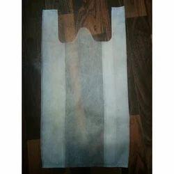 W Cut Non Woven White Bag