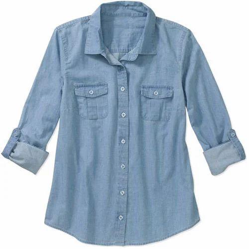 Denim Shirt With Jeans Women