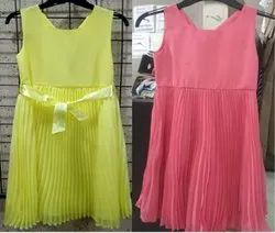 Girls Pleated Chiffon Dress