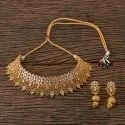 Antique Mukut Necklace With Gold Plating 202853