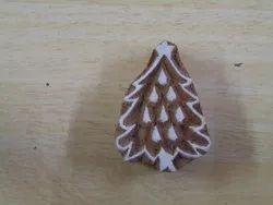 X Mas Tree Wooden Printing Blocks