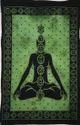 Green, Black Cotton Seven Chakra Yoga Buddha Poster, Handwash, Size: 40 X 30 Inch
