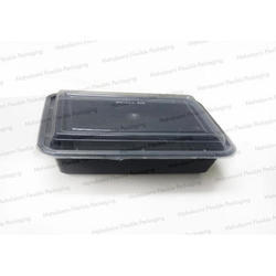 Black Reusable Food Tray