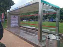 SS Glass Bus Shelter