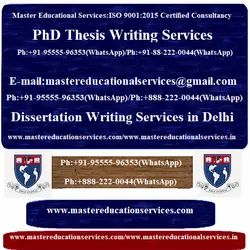 Dissertation Writing Services in India