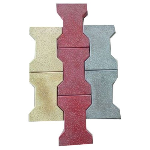 Grey, Red And Yellow Outdoor I Shape Paver Blocks