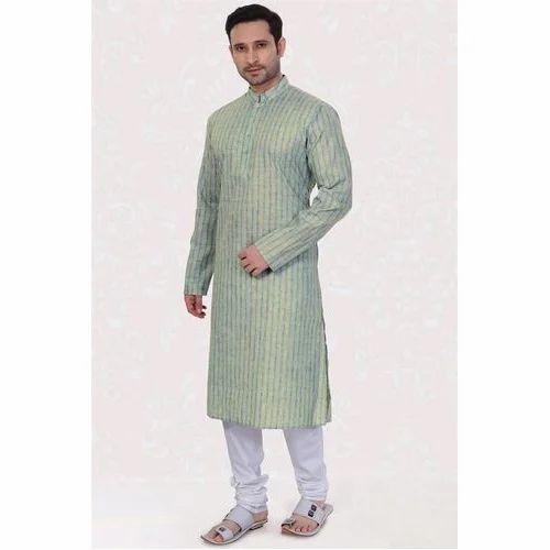 2895686abc Men's Linen Party Wear Kurta Pyjama, Rs 1400 /piece, Standard ...