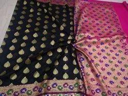 Zari Black Banarasi Silk Party Wear Saree