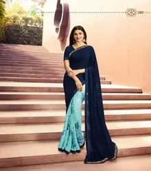 Ladies Silky Georgette Saree