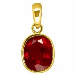 Ruby Lockets Women and Men Panchdhatu Gemstone