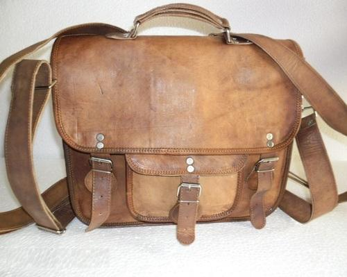 d77a5826ca Unisex Brown Leather Office Bag Cum School Backpack