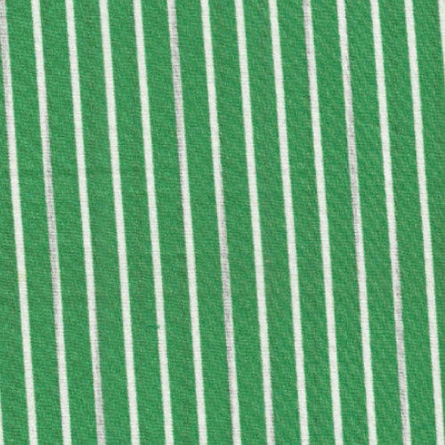 Green And White Stripe Printed Fabric